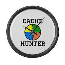 Cache Hunter Large Wall Clock