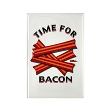 Time For Bacon! Rectangle Magnet