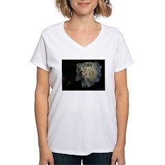 .white peony. Women's V-Neck T-Shirt