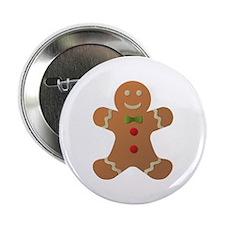 "Gingerbread man 2.25"" Button"