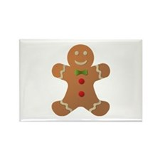 Gingerbread man Rectangle Magnet