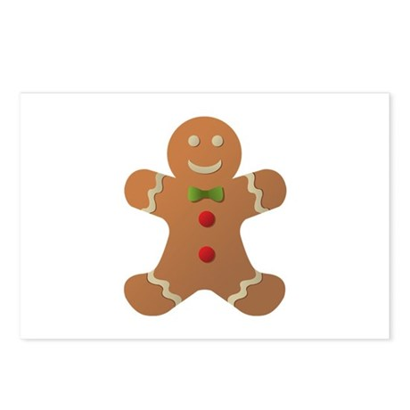 Gingerbread man Postcards (Package of 8)