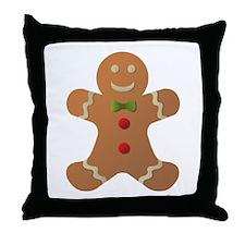 Gingerbread man Throw Pillow