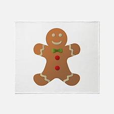 Gingerbread man Throw Blanket