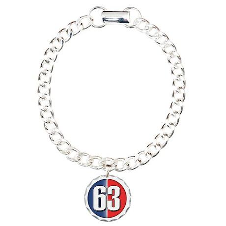 63 Car Logo Charm Bracelet, One Charm