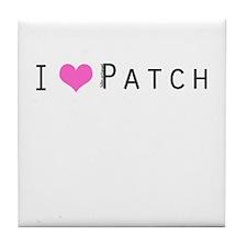 I heart Patch Tile Coaster