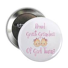 Proud Great Grandma Girls Button