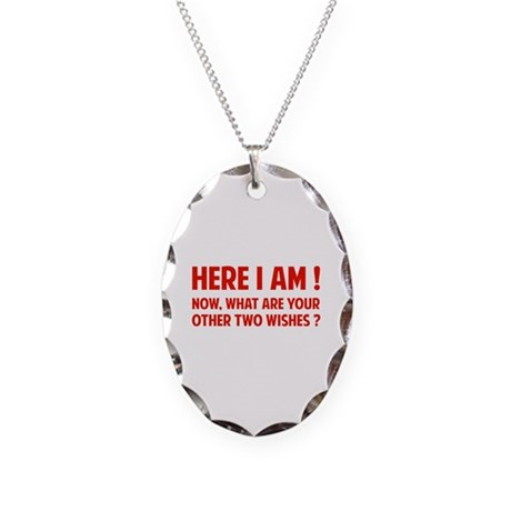 Here I am Necklace Oval Charm