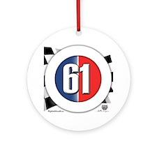 61 Car Logo Ornament (Round)