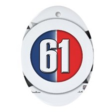 61 Car Logo Ornament (Oval)