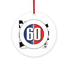 60 Car Logo Ornament (Round)