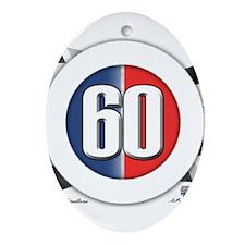 60 Car Logo Ornament (Oval)