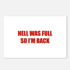 Hell was full Postcards (Package of 8)