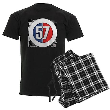57 Car logo Men's Dark Pajamas