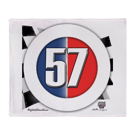 57 Car logo Throw Blanket