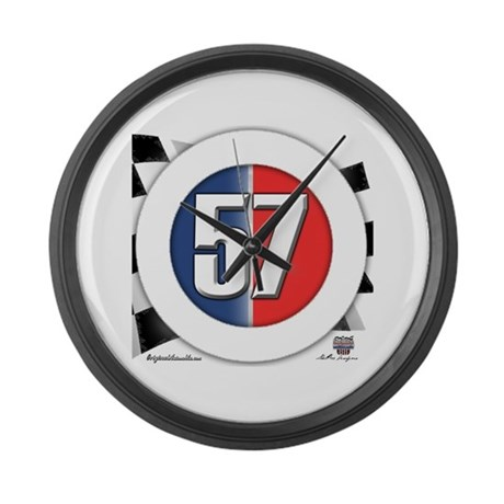 57 Car logo Large Wall Clock