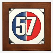 57 Car logo Framed Tile