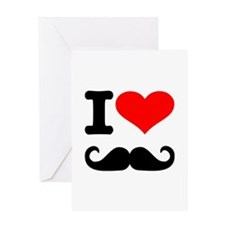 I love mustache Greeting Card