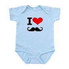 I love mustache Infant Bodysuit