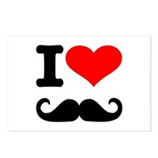 I love mustache Postcards (Package of 8)