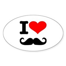 I love mustache Decal