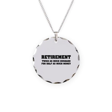 Retirement Necklace Circle Charm