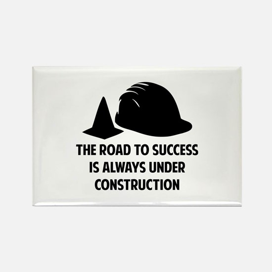 The Road To Success Rectangle Magnet