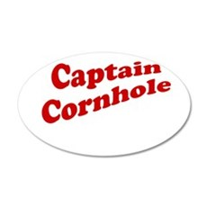 Captain Cornhole 22x14 Oval Wall Peel