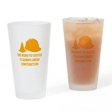 The Road To Success Drinking Glass