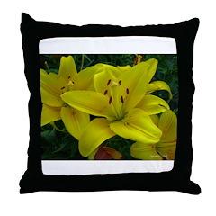 .yellow lily. Throw Pillow
