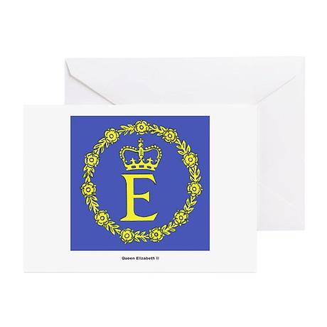 Queen Elizabeth II Flag Greeting Cards (Package of
