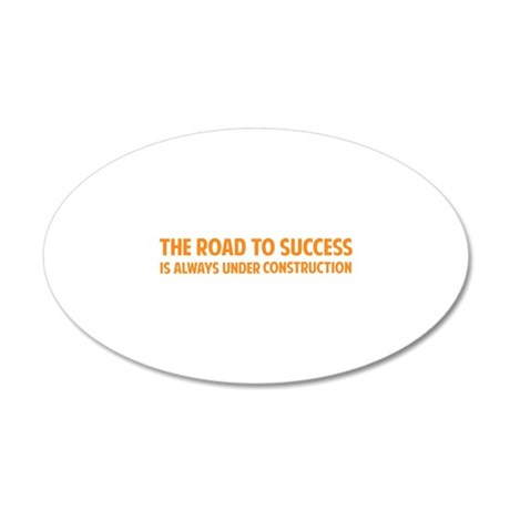The Road To Success 22x14 Oval Wall Peel