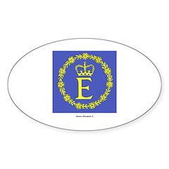 Queen Elizabeth II Flag Oval Decal