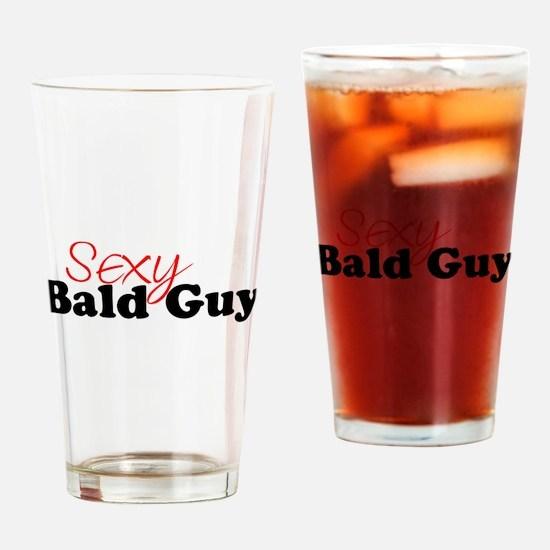 Cute Bald Drinking Glass