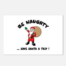Save Santa a Trip Postcards (Package of 8)