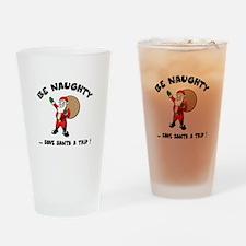 Save Santa a Trip Drinking Glass