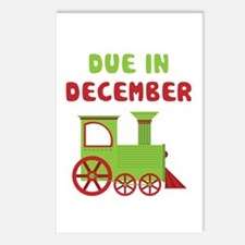 Christmas Train December Postcards (Package of 8)