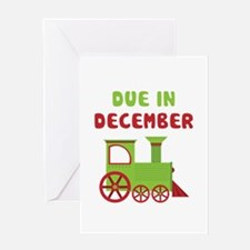 Christmas Train December Greeting Card