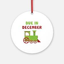 Christmas Train December Ornament (Round)