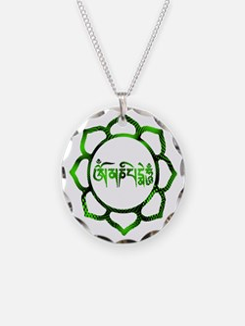 Unique Om mani padme hum Necklace