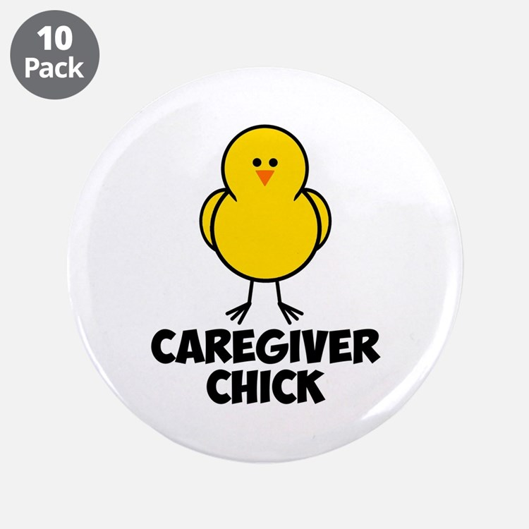 """Chick 3.5"""" Button (10 pack)"""