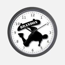 Brandon - Skateboard Wall Clock