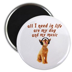 Dog and music Magnet