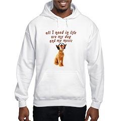 Dog and music Hooded Sweatshirt
