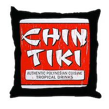 Chin Tiki Throw Pillow