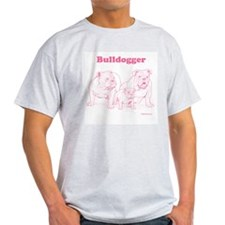 Bulldogger Pink/Ash Grey T-Shirt
