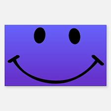 Smiley Prple Sticker (Rectangle)