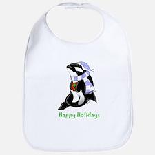 Christmas Orca Bib
