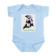 Christmas Orca Infant Bodysuit