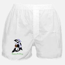 Christmas Orca Boxer Shorts